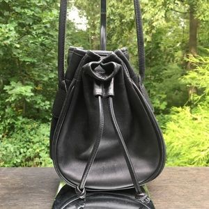 Vintage Coach Mini Drawcord Bucket Bag